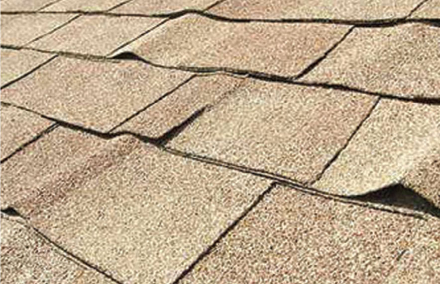 heat related warping of shingles